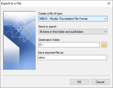 Convert .pst to mbox files